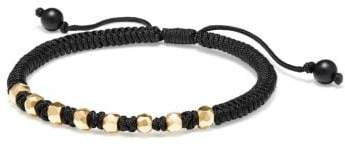 David Yurman Dy Fortune Woven Bracelet In Black With Black Onyx In