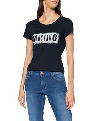 Mustang Women's Alexia C Print T-Shirt, (General White 45), (Size:L)