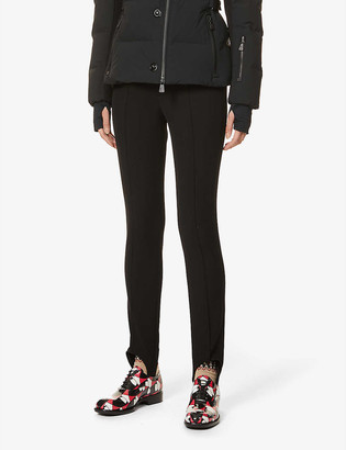 Moncler Regular fit mid-rise slim-leg stretch-woven trousers