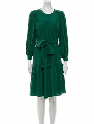 ANNA MASON Crew Neck Knee-Length Dress Green