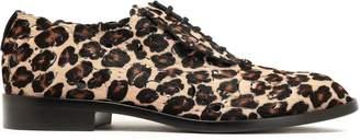 Roger Vivier Laser-cut Leopard-print Calf Hair Brogues