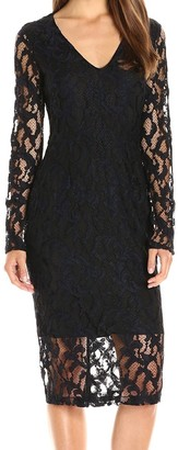 Rachel Roy Women's Lace Midi Dress with Back Cut Out