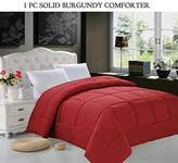 Elegant Comfort Luxurious Down Alternative Double-Fill Comforter Duvet Insert, Twin, Burgundy