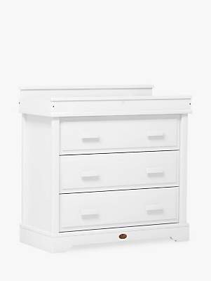 Boori Universal 3 Drawer Dresser with Squared Changing Station, Barley
