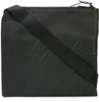 Yohji Yamamoto embossed logo messenger bag