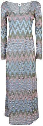 M Missoni Zigzag Long-sleeved Dress