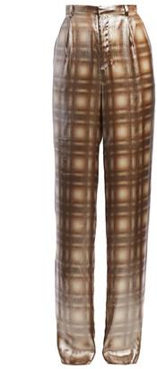 Ralph Lauren Grafton Metallic Plaid Pants