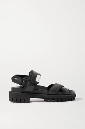 Ganni Hiking Leather Sandals - Black