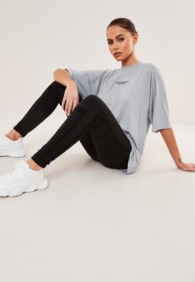 Missguided Premium Black Flocked Gym Leggings