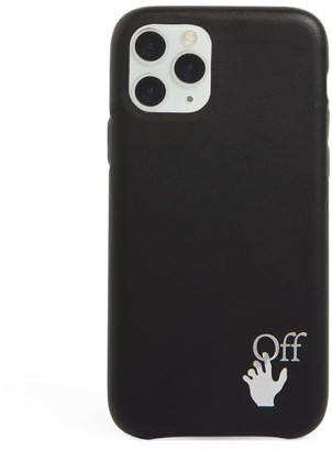 Off-White Leather Hands Logo iPhone 11 Pro Case