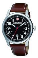 Wenger Terragraph Men's Quartz Watch with Dial Analogue Display and Brown Leather Strap 010541102