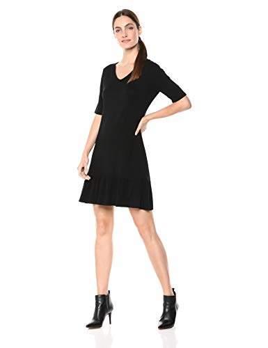Karen Kane Women's V-Neck Ruffle Hem Dress