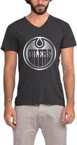 FANMY Men's Edmonton Oilers Platinum Logo T-shirt