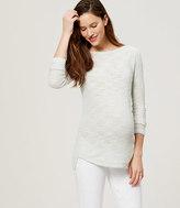 LOFT Petite Maternity Textured Shirttail Sweater