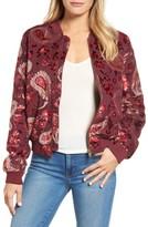 Kas Women's Ashlyn Velvet Burnout Bomber Jacket