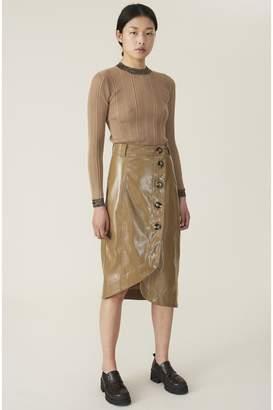 Ganni Patent Skirt