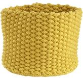 Baby Essentials Small Kneatly Knit Rope Bin (Yellow)