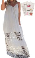 Donalworld Sexy Women Summer Boho Long Maxi Evening Beach Dress Sundress White Asia SizeL