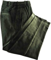 MANGO Green Cotton Trousers for Women