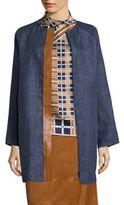 Lafayette 148 New York Berkeley Leather Trim Jacket