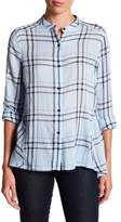 Joe Fresh Back Peplum Plaid Blouse