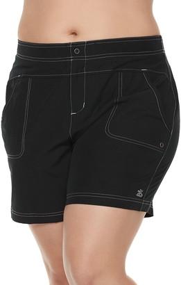ZeroXposur Plus Size Hybrid Swim Shorts
