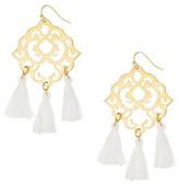 Susan Shaw White Tassel Earrings