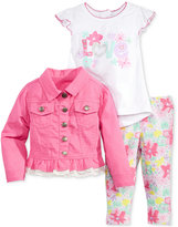 Nannette 3-Pc. Peplum Jacket, Top & Leggings Set, Baby Girls (0-24 months)