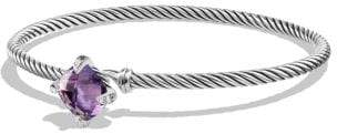 David Yurman Chatelaine® Bracelet With Amethyst And Diamonds, 9Mm