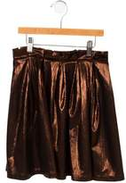Morley Girls' Pleated Metallic Skirt w/ Tags
