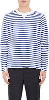 Sacai Men's Striped Cotton Knit Long-Sleeve Top