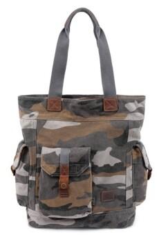 TSD BRAND Camo Canvas Tote Bag