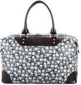 Robert Graham Rambler Skull-Print Leather-Trim Duffle Bag