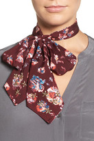BCBGeneration Floral Bow Tie Scarf
