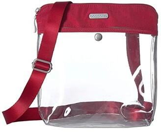 Baggallini Legacy Stadium Bags Clear Pocket Crossbody (Charcoal) Cross Body Handbags