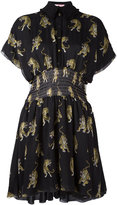 Giamba tiger print shirt dress