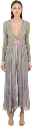 Missoni Long Striped Lurex Knit Cardigan
