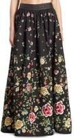 Alice + Olivia Tina Studded Embroidered Ball Skirt