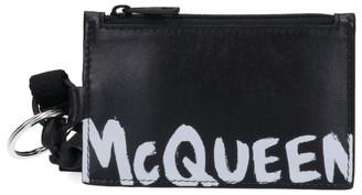 Alexander McQueen Graffiti Logo Card Holder