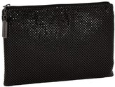Whiting & Davis Medium Pouch Clutch - Black