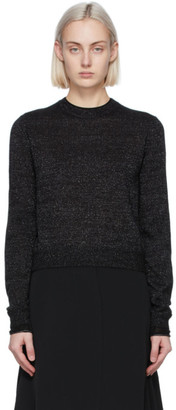 Victoria Victoria Beckham Black Mohair Lurex Fitted Sweater