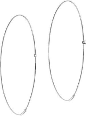 Lana 14K White Gold & Diamond Large Wire Magic Hoops