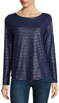 ST. JOHN'S BAY Long Sleeve Boat Neck T-Shirt-Womens