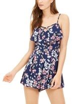 Thumbnail for your product : Trixxi Juniors' Popover Cross-Front Romper