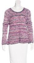 Maje Long Sleeve Open Knit Sweater