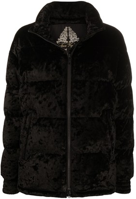 Moose Knuckles Velvet Puffer Jacket