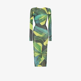 Louisa Ballou High Tide floral print midi dress