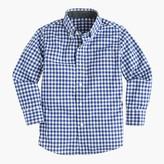 J.Crew Kids' Secret Wash shirt in gingham