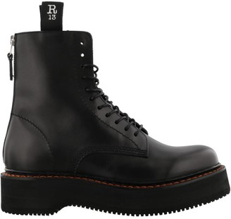 R 13 Single Stacked Combat Boots