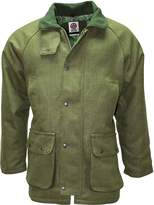 Mens Dark Green Tweed Coat by WWK / WorkWear King